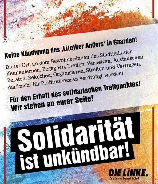 Solidarität mit der li(eber) anders